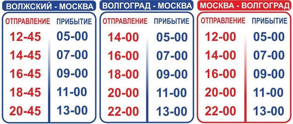автобусы с москвы до волгограда: